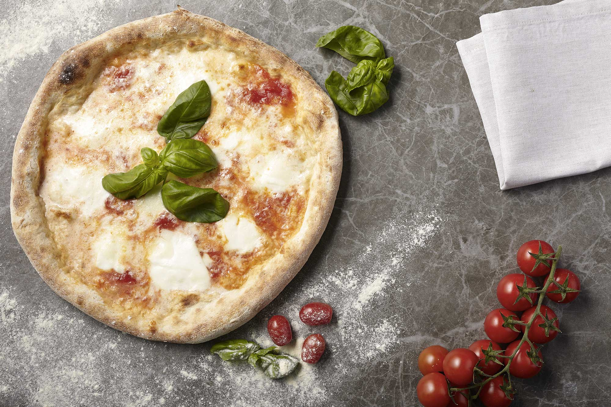 La pizza & I suoi ingredienti